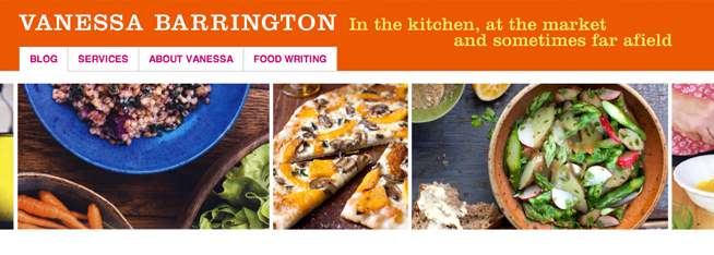 WordPress theme design for a food writer