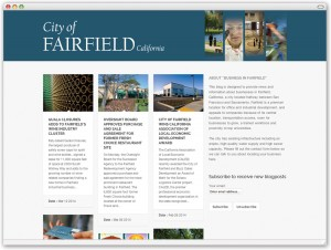 This simple blog site is designed to provide news and information about businesses in Fairfield, California.