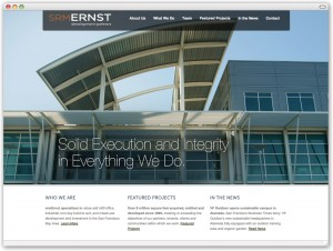 Site for real estate development firm in the San Francisco Bay Area.