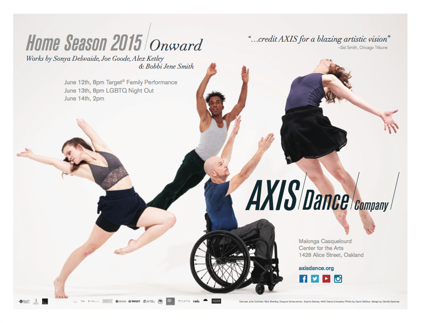 AXIS Dance Company, Home Season 2015 / Onward, BART poster